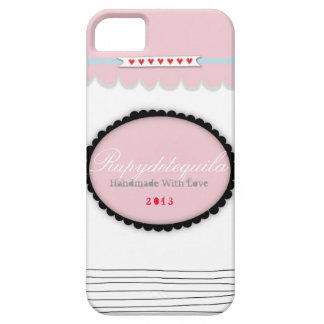 Corazones adaptables del rojo del caso del rosa iPhone 5 fundas