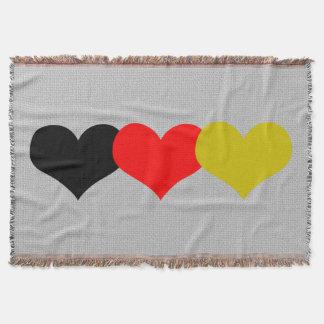 Corazones alemanes de la bandera manta