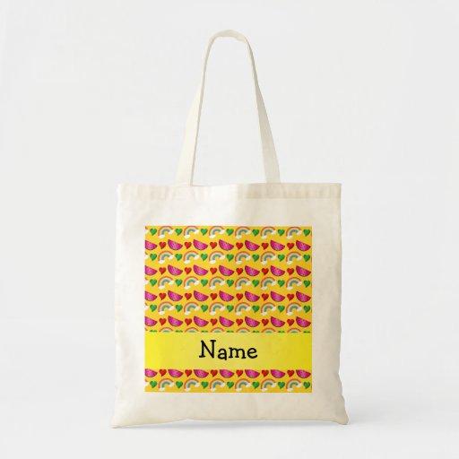 Corazones amarillos conocidos de encargo de los ar bolsas