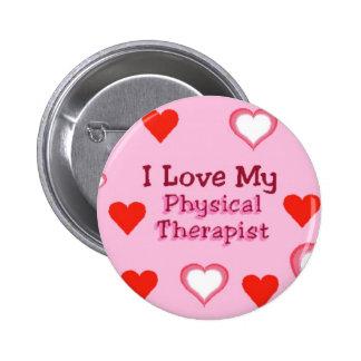 Corazones Ame a mi terapeuta físico Pins