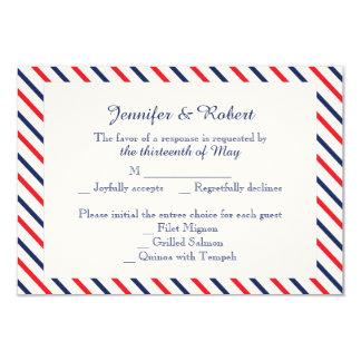 """Corazones americana que casan la tarjeta de la invitación 3.5"""" x 5"""""""