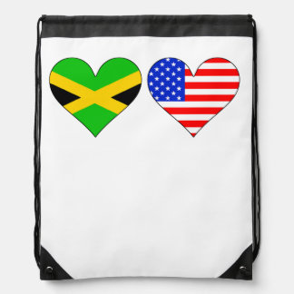 Corazones americanos jamaicanos mochilas