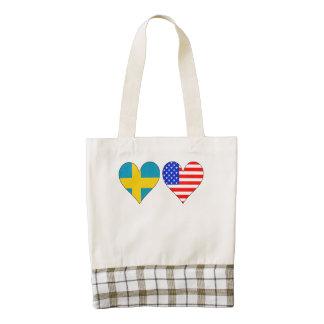 Corazones americanos suecos bolsa tote zazzle HEART