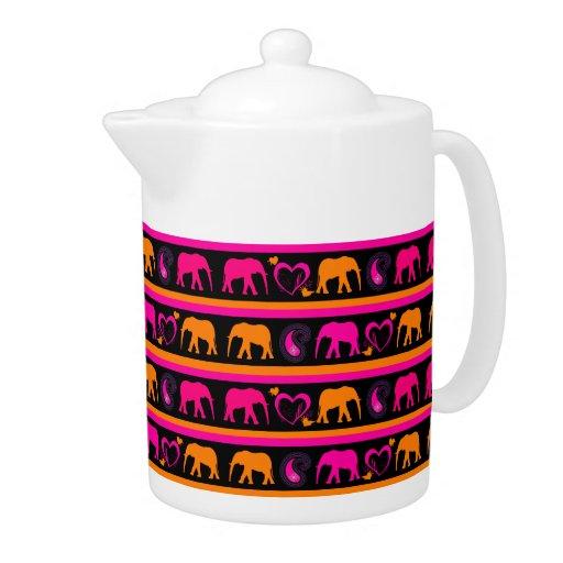 Corazones anaranjados de Paisley de los elefantes
