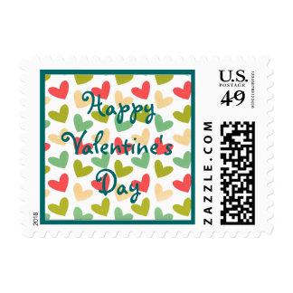 Corazones aniversario o boda o Valent de la Sellos Postales