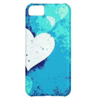 ¡Corazones - azul eléctrico! Carcasa iPhone 5C