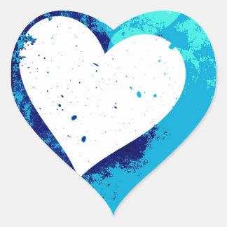 ¡Corazones - azul eléctrico! Pegatina En Forma De Corazón