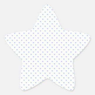 Corazones azules de la polca de Alicia en jardín Pegatina En Forma De Estrella