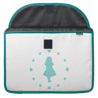 Corazones azules de Tiffany alrededor de Alicia Fundas Para Macbooks