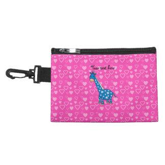 Corazones azules del rosa de la jirafa