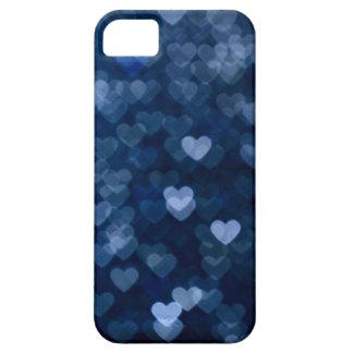 corazones azules iPhone 5 protectores