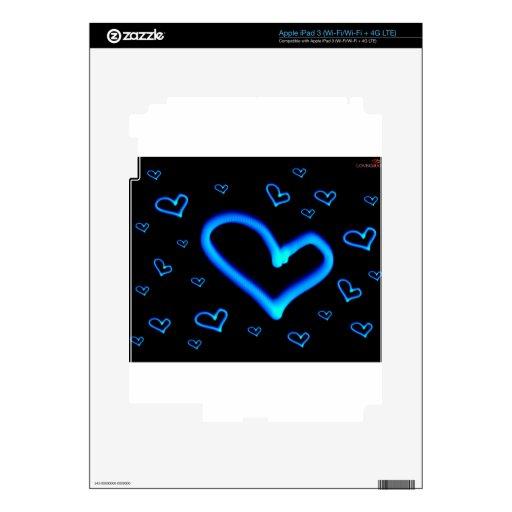 Corazones azules iPad 3 skins