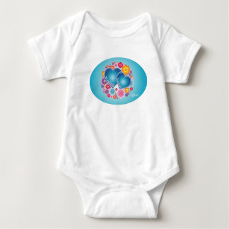 Corazones azules mameluco de bebé