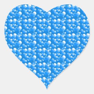 Corazones azules pegatina en forma de corazón