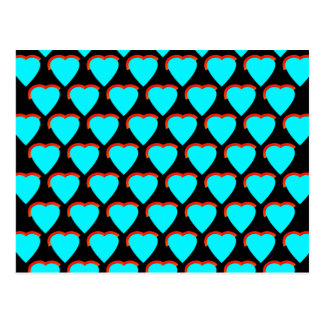 Corazones azules tarjetas postales