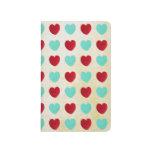 Corazones azules y rojos cuadernos grapados
