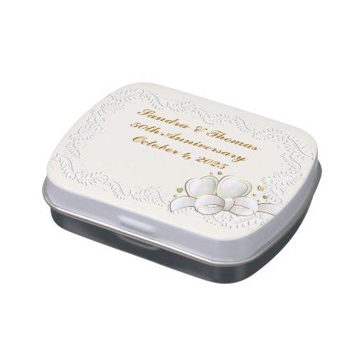 Corazones blancos frascos de caramelos