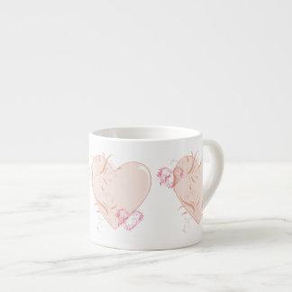 Corazones bonitos taza espresso