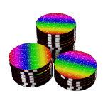 Corazones brillantes del arco iris
