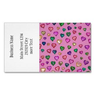 Corazones brillantes tarjetas de visita magnéticas (paquete de 25)