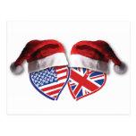Corazones BRITÁNICOS de los E.E.U.U. del navidad Postal
