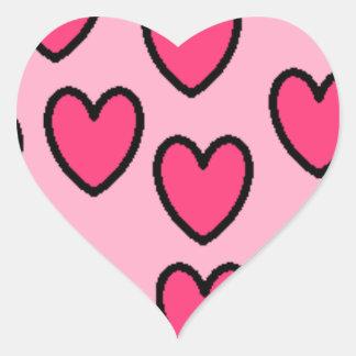 corazones bruce pegatina en forma de corazón