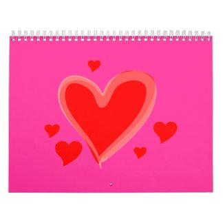 corazones calendarios