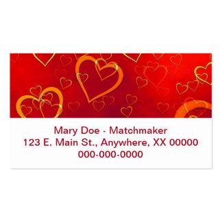 Corazones candentes plantillas de tarjetas de visita