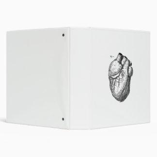 """Corazones cardiacos retros de la anatomía del carpeta 1 1/2"""""""