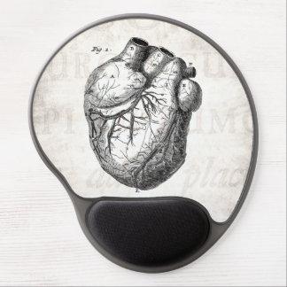 Corazones cardiacos retros de la anatomía del cora alfombrilla con gel