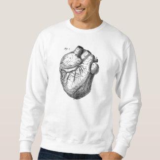 Corazones cardiacos retros de la anatomía del sudaderas encapuchadas