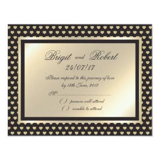 """Corazones cariñosos que casan los efectos de invitación 4.25"""" x 5.5"""""""