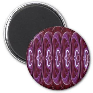 Corazones carmesís 9024b imán redondo 5 cm