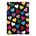 Corazones caso del iPad de los colores del mini