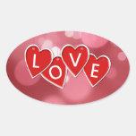 Corazones colgantes del pegatina del amor -