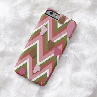 Corazones color de rosa y Cheverons Funda Barely There iPhone 6