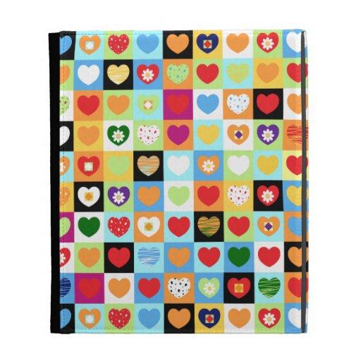 Corazones coloridos, caso del iPad