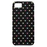 Corazones coloridos en negro iPhone 5 Case-Mate cárcasa
