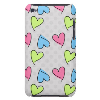 Corazones coloridos lindos Case-Mate iPod touch funda