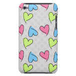 Corazones coloridos lindos Case-Mate iPod touch funda