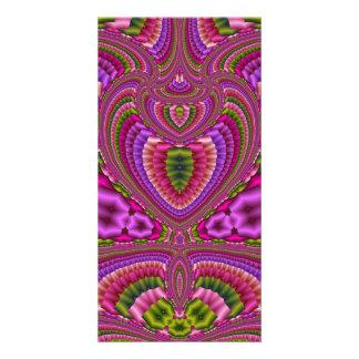 Corazones coloridos vibrantes abstractos del tarjetas fotográficas