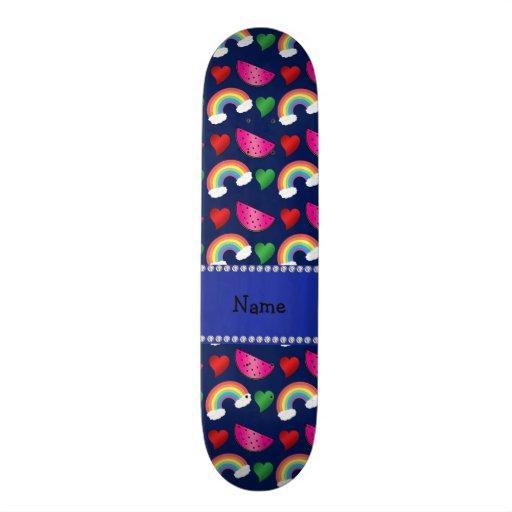 Corazones conocidos de encargo de los arco iris de tabla de skate