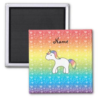 Corazones conocidos personalizados del arco iris d iman de nevera