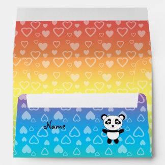 Corazones conocidos personalizados del arco iris d