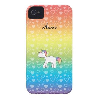 Corazones conocidos personalizados del arco iris iPhone 4 Case-Mate cárcasas