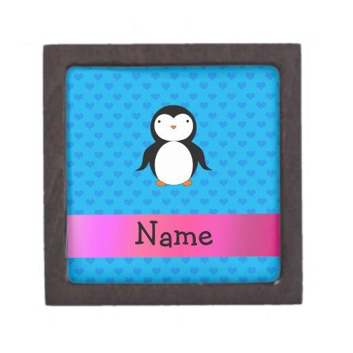 Corazones conocidos personalizados del azul del pi caja de regalo de calidad