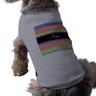 Corazones conocidos personalizados del diamante de camisetas de perrito