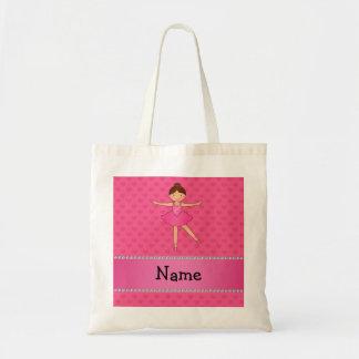 Corazones conocidos personalizados del rosa de la  bolsas