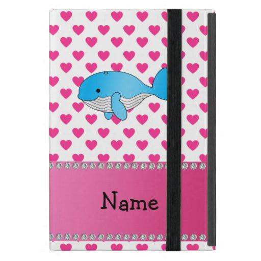 Corazones conocidos personalizados del rosa de la iPad mini carcasas