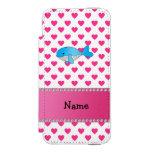 Corazones conocidos personalizados del rosa de la funda cartera para iPhone 5 watson